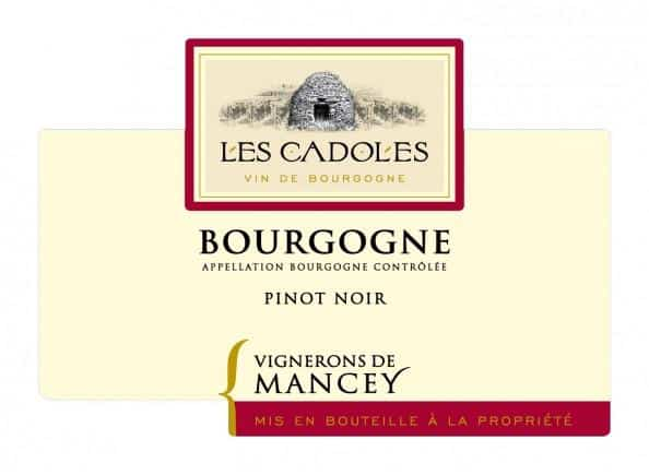 vignerons de mancey les cadoles bourgogne pinot noir 2016 doos 6 flessen wijnhandel. Black Bedroom Furniture Sets. Home Design Ideas
